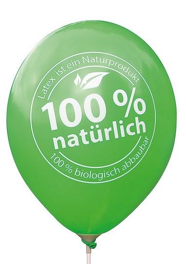 Luftballons sind 100% biologisch abbaubar
