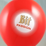 Luftballon-Siebdruck Bitburger Passion