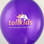 Luftballon-Siebdruck Tollkids