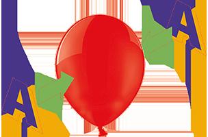 Zweiseitiger Siebdruck auf Luftballons