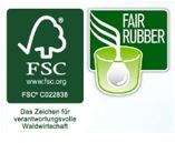 FSC® Fair Rubber Logo