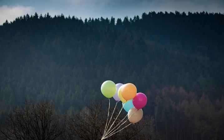Bunte Pastellballons