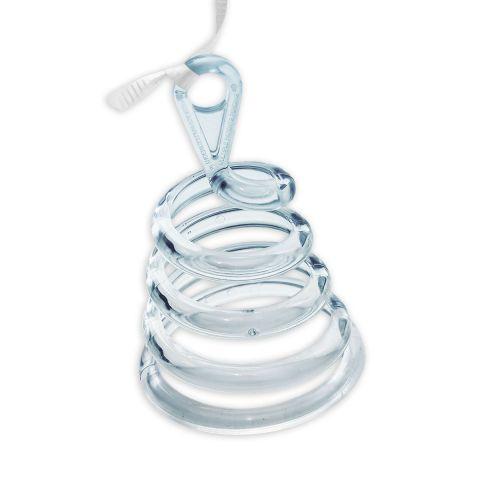 Ballongewicht, transparente Spirale aus Kunststoff, oben mit Öse zum Befestigen der Ballons.