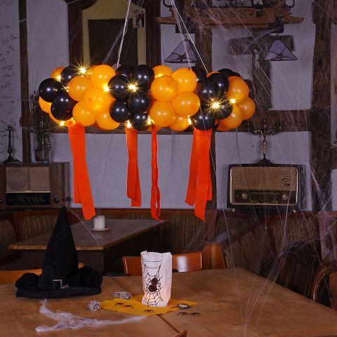 "EASY-FIX Luftballon-Dekoset ""Halloween-Kranz"", Größe 100 cm"