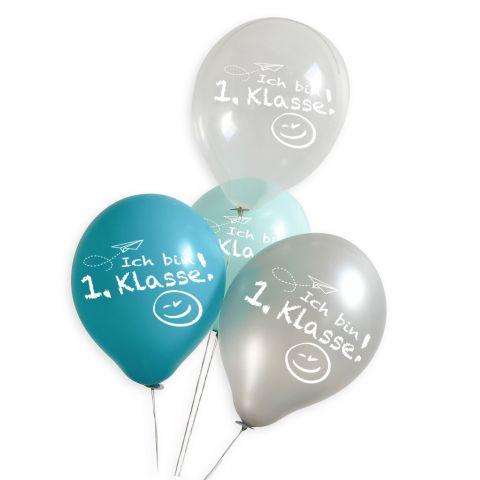 "Dekoset: ""Ich bin 1. Klasse"" (Junge) - 20 Luftballons inkl. Öko-Fixverschlüsse"