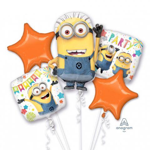 """5 verschiedene Folienballons """"Minions"""" zum Thema Kindergeburtstag  """"Ich einfach unverbesserlich"""""""