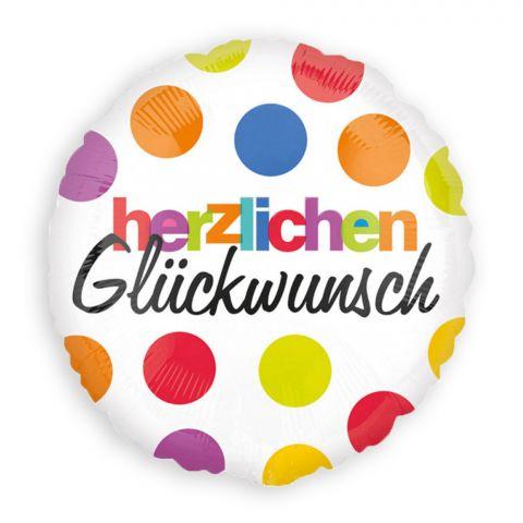 """Folienballon """"Herzlichen Glückwunsch"""" (43 cm)"""
