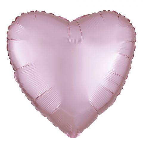 Folienballon in Herzform in der Farbe Satin-pastell-pink