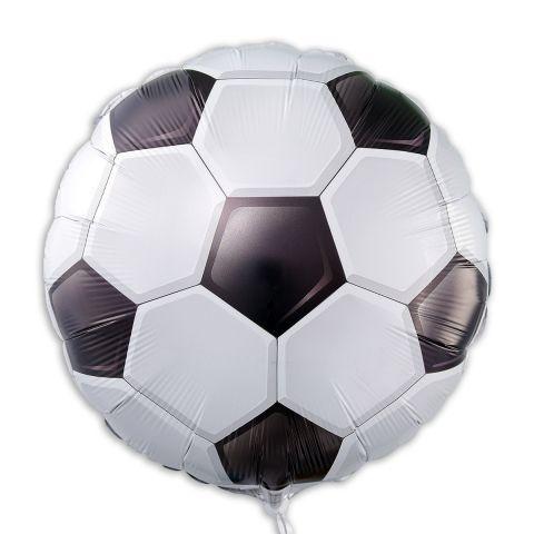 Folienballon in Form eines Fußballs mit schwarz/weißen Fußballrauten.