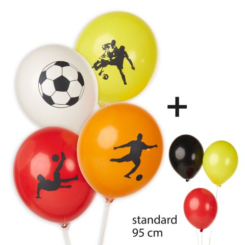 """Luftballons """"Fußballmotive"""" inkl. unbedruckte Ballons (20 Stück)"""