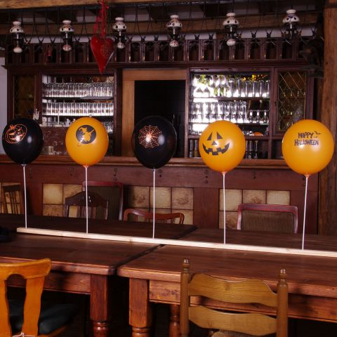 "Luftballon-Dekoset: ""Halloween"" Daheim"