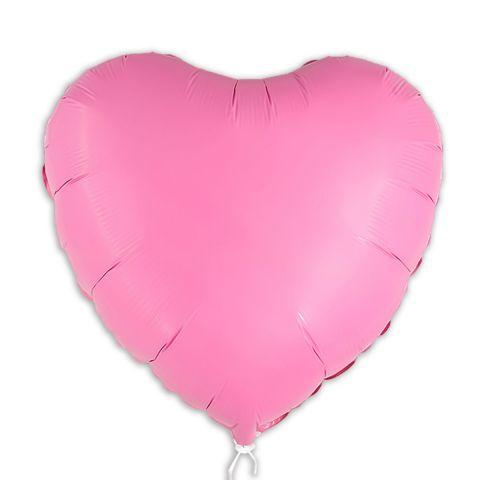 Pinker Folienballon ohne Aufdruck. 45 cm groß
