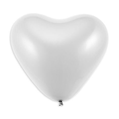 Herzluftballons weiß, 75 cm Umfang (10 Stück)