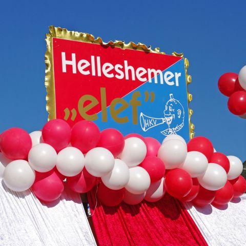 Luftballongirlande Umzugswagen Karneval (5m)