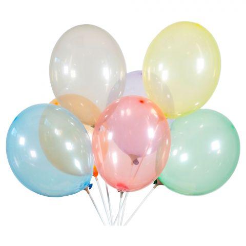 Luftballons bunt gemischt in kristalloptik, Soap. Wirken wie bunte Seifenblasen.