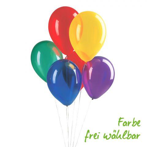 Luftballontraube in Kristalloptik, bunt gemischt, 95cm Umfang, Farbe frei wählbar