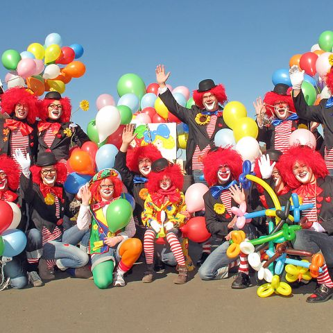 Luftballons Karnevalsdeko Gruppe