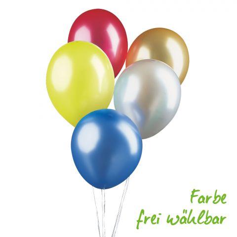 Luftballontraube in metallic-Optik, bunt gemischt, Farbe frei wählbar