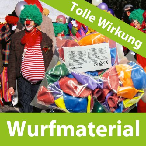 Tolles Wirkung an Karneval, Wurfmaterial, Luftballons